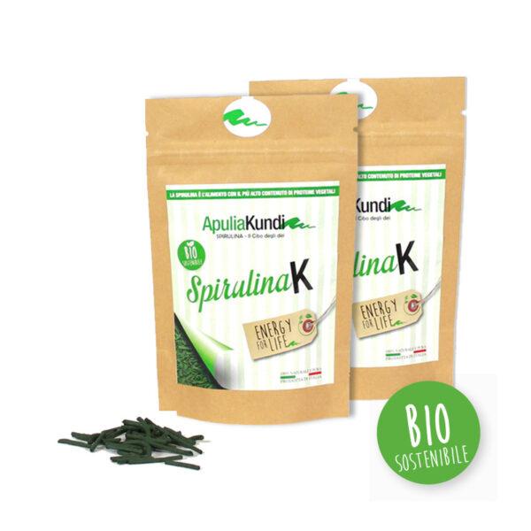 Pack da 2 di SPIRULINAK BIO 50g stick alla SpirulinaK